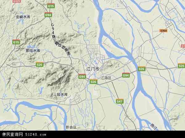 2015江门市地图高清版