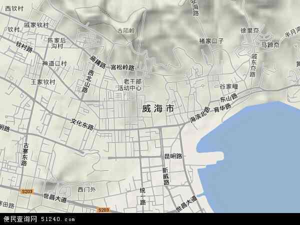 鲸园高清卫星地图 鲸园2017年卫星地图 中国山东省威海市环翠区鲸