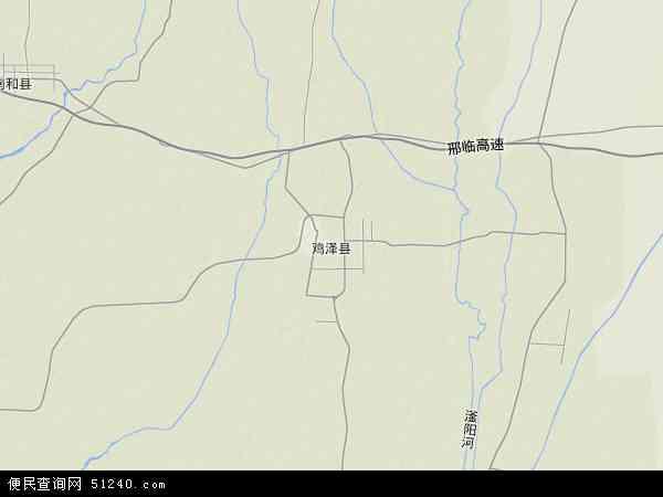 中国河北省邯郸市鸡泽县地图(卫星地图)