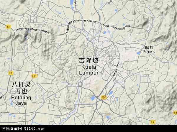 2015吉隆坡地图高清版
