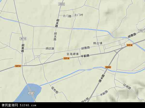 中国北京市平谷区金海湖地图(卫星地图)