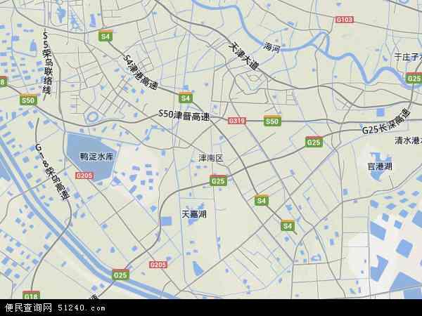 中国天津市津南区地图(卫星地图)