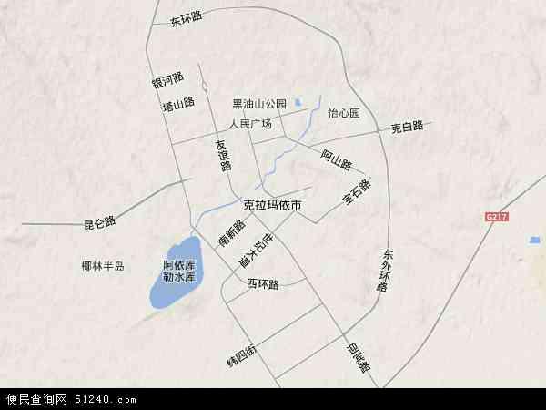 克拉玛依市地图 - 克拉玛依市卫星地图
