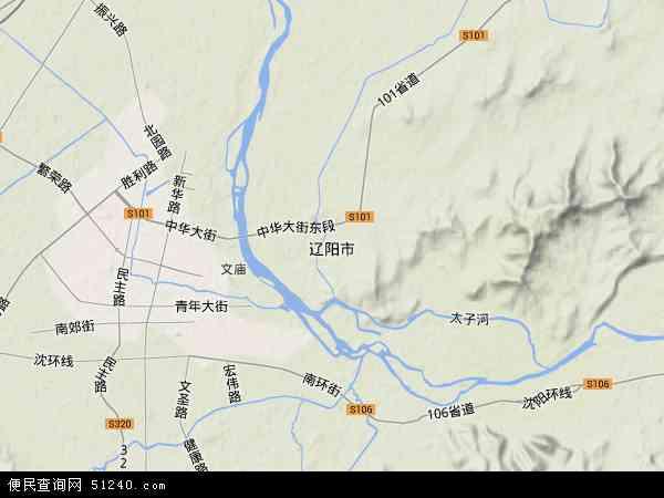 辽阳市地图 - 辽阳市卫星地图