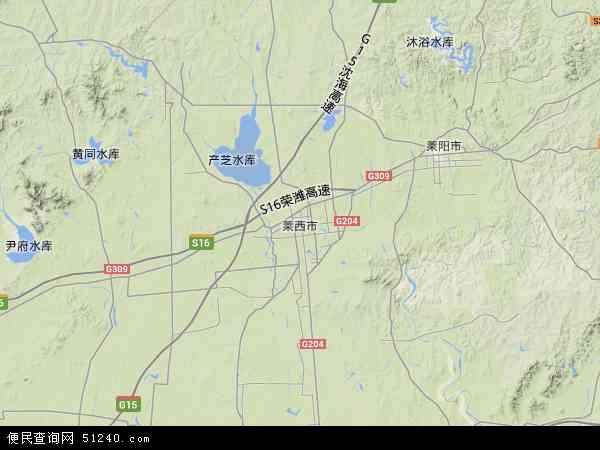中国山东省青岛市莱西市地图(卫星地图)