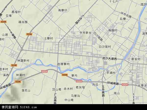 中国广东省揭阳市普宁市流沙西地图(卫星地图