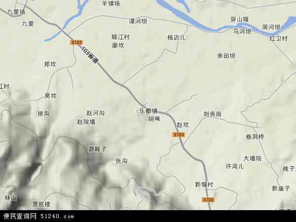 乐都镇地形地图