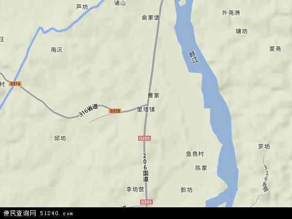 中国江西省抚州市南城县里塔镇地图(卫星地图)图片