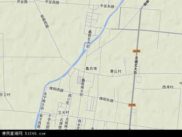 中国河北省保定市蠡县蠡吾镇地图(卫星地图)