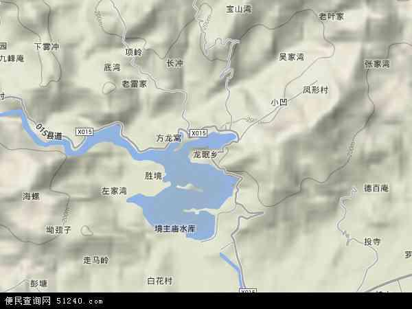 中国安徽省安庆市桐城市龙眠地图(卫星地图)