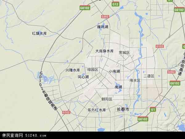 中国吉林省长春市绿园区地图(卫星地图)