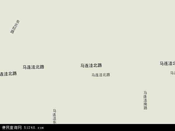 中国北京市海淀区马连洼地图(卫星地图)