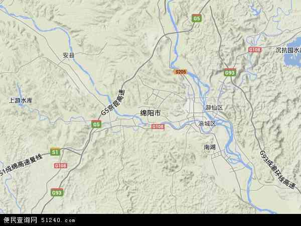 四川省绵阳市区图_绵阳市地图 - 绵阳市卫星地图 - 绵阳市高清航拍地图