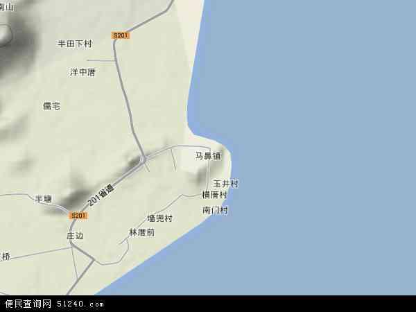 中国福建省福州市连江县马鼻镇地图(卫星地图)