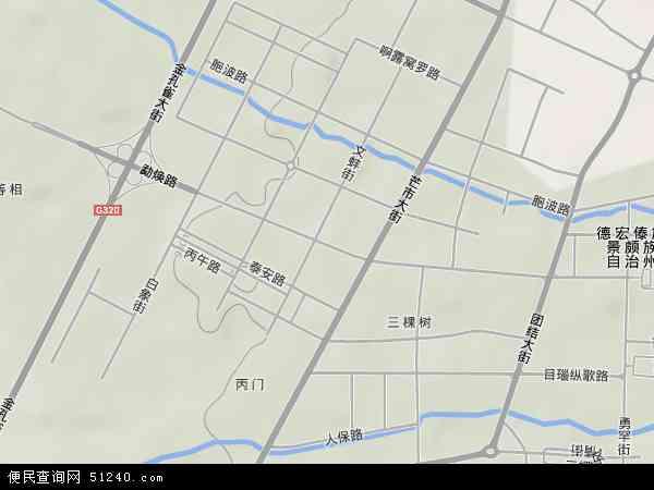 勐焕地图 勐焕卫星地图 勐焕高清航拍地图图片