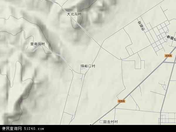 中国山西省大同市矿区煤峪口地图(卫星地图)