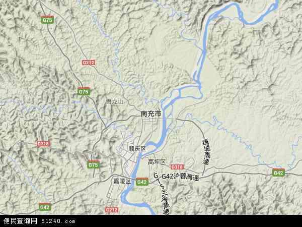 南充市地图 - 南充市卫星地图... d.51240.com 宽600x450高