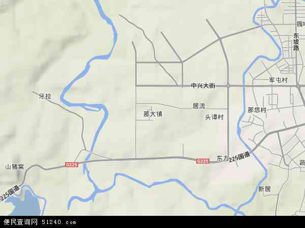 中国海南省省直辖县级行政区划儋州市那大镇地图