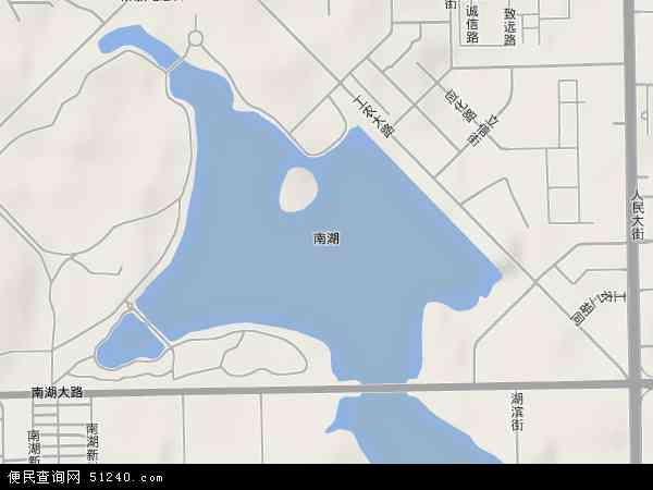 中国吉林省长春市朝阳区南湖地图(卫星地图)