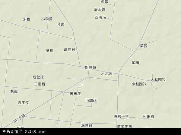 中国河南省信阳市淮滨县期思镇地图(卫星地图)