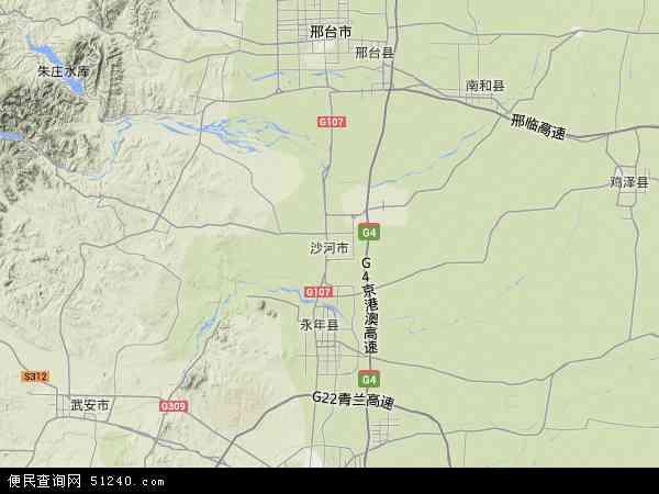 中国河北省邢台市沙河市地图(卫星地图)