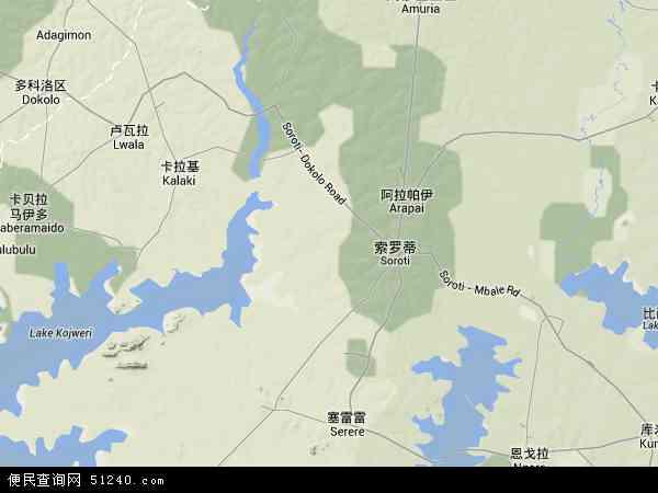 乌干达索罗提地图(卫星地图)