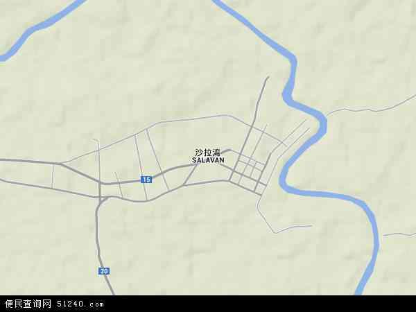老挝沙拉湾地图(卫星地图)