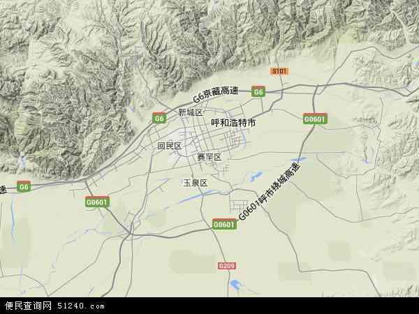 赛罕区地图 - 赛罕区卫星地图