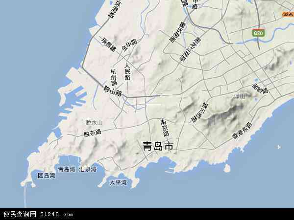 中国山东省青岛市市北区地图(卫星地图)