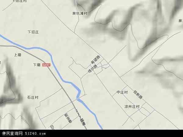 塔尔镇高清卫星地图 塔尔镇2017年卫星地图 中国青海省西宁市大通图片