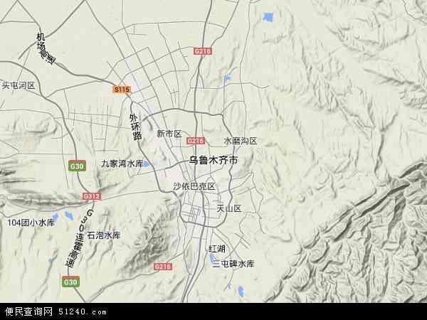 乌鲁木齐市地图 - 乌鲁木齐市卫星地图