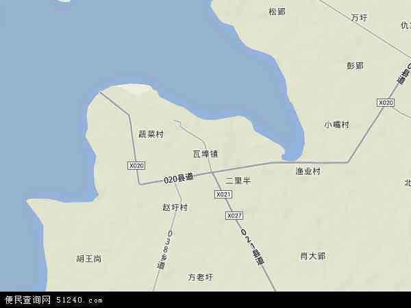 中国安徽省六安市寿县瓦埠镇地图(卫星地图)