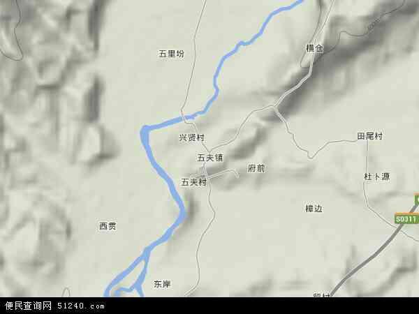 中国福建省南平市武夷山市五夫镇地图(卫星地图)