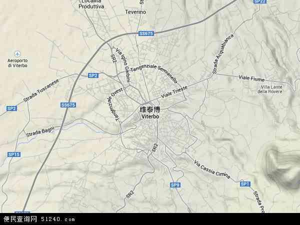 意大利维泰博地图(卫星地图)
