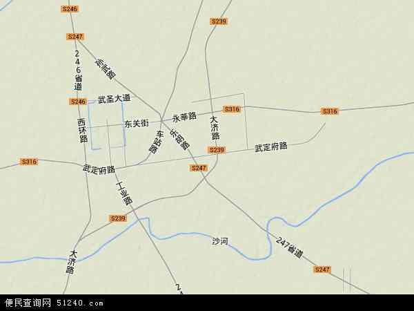 中国山东省滨州市惠民县武定府地图(卫星地图)