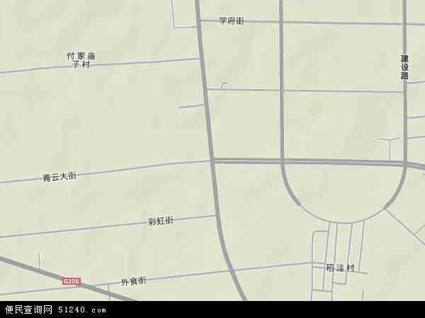 中国山东省潍坊市安丘市新安地图(卫星地图)