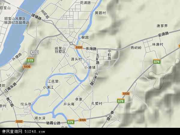 中国浙江省宁波市北仑区小港地图(卫星地图)