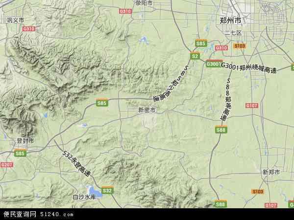 新密市地图 - 新密市卫星地图