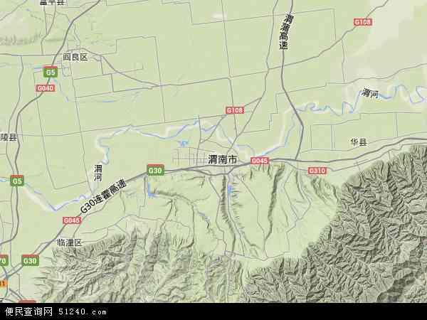 中国陕西省渭南市临渭区下邽镇地图(卫星地图)
