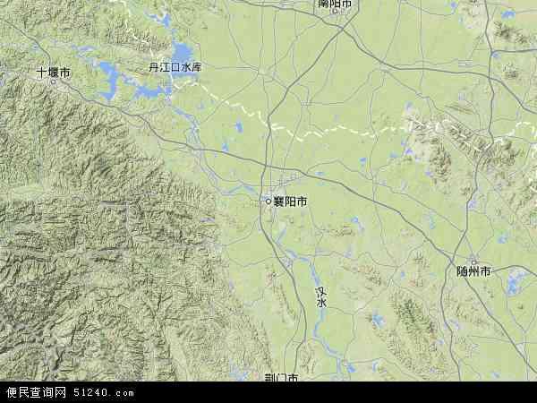 襄阳市地图 - 襄阳市卫星地图