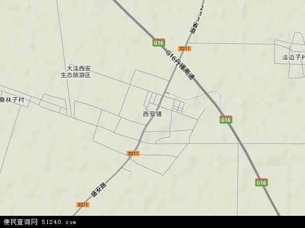 中国辽宁省盘锦市大洼县西安镇地图(卫星地图)