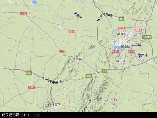 中国安徽省宿州市萧县地图(卫星地图)