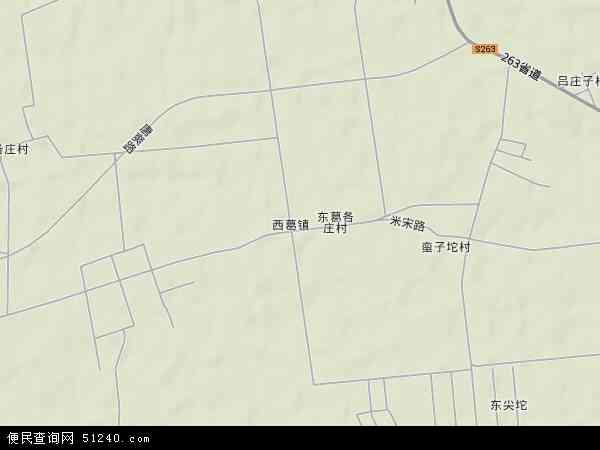 中国河北省唐山市丰南区西葛镇地图(卫星地图)