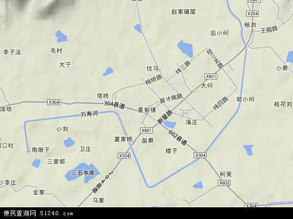 中国江苏省南京市浦口区星甸地图(卫星地图)