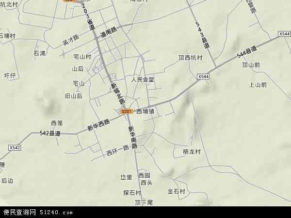 中国福建省漳州市东山县西埔镇地图(卫星地图)