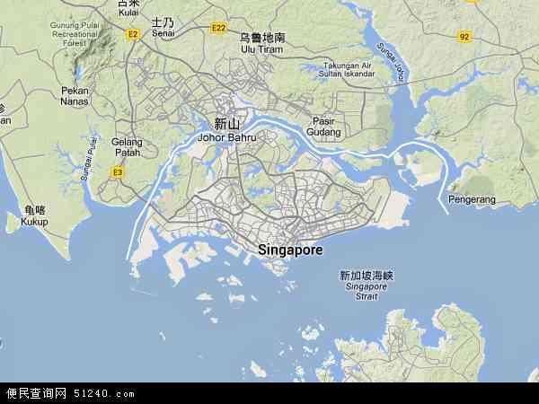 新加坡地图 - 新加坡卫星地图 - 新加坡高清航拍地图