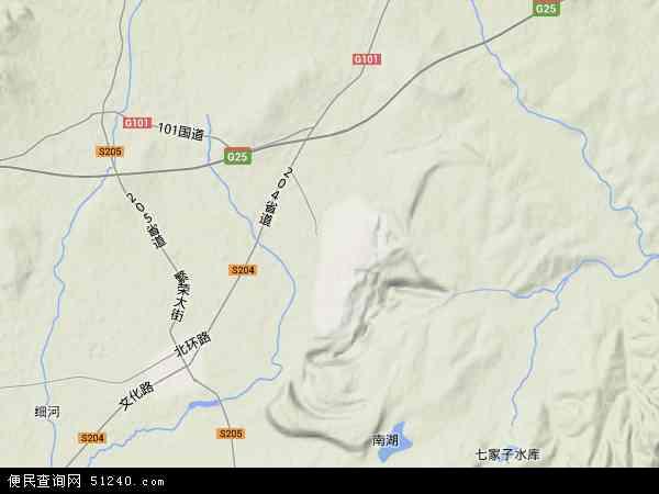 中国辽宁省阜新市新邱区地图(卫星地图)