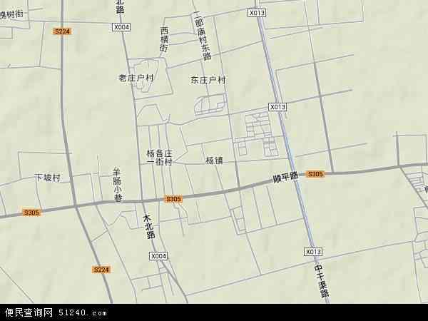 中国北京市顺义区杨镇地图(卫星地图)