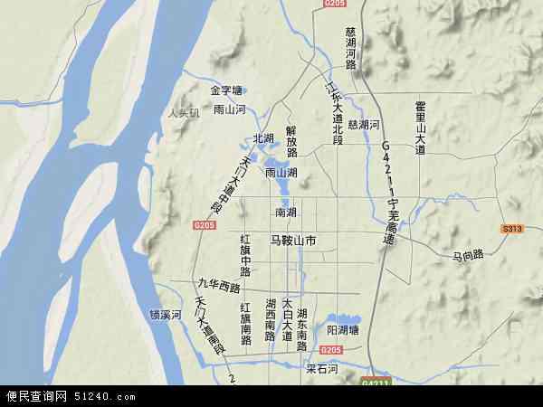 雨山区地图 - 雨山区卫星地图