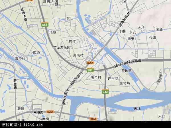 中南地形地图